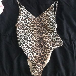 High cut cheetah one piece